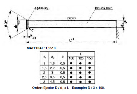 D_Countersunk Ejector Pin