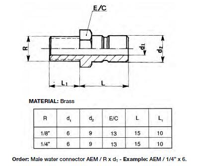 AEM_Water Connector